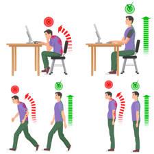 malas posturas favorecen los problemas de espalda
