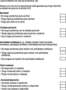 test Eq-5D para medir calidad de vida en pacientes con dolor de espalda