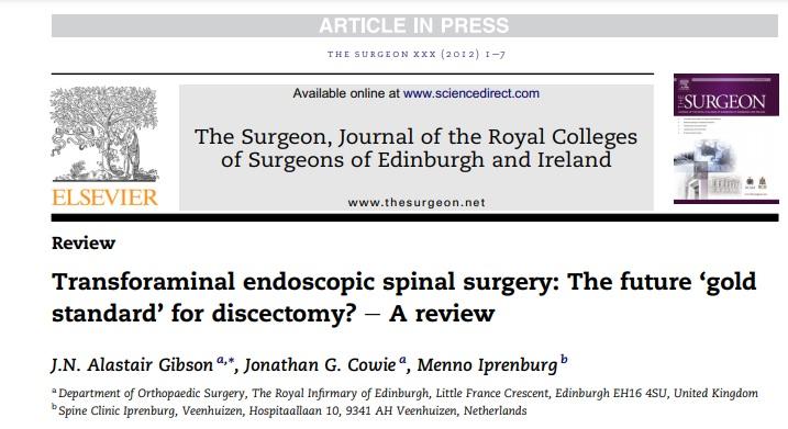 Endoscopia de Columna o Cirugía Tradicional