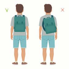 como usar mochila para evitar dolor de espalda