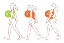 caminando con la postura adecuada